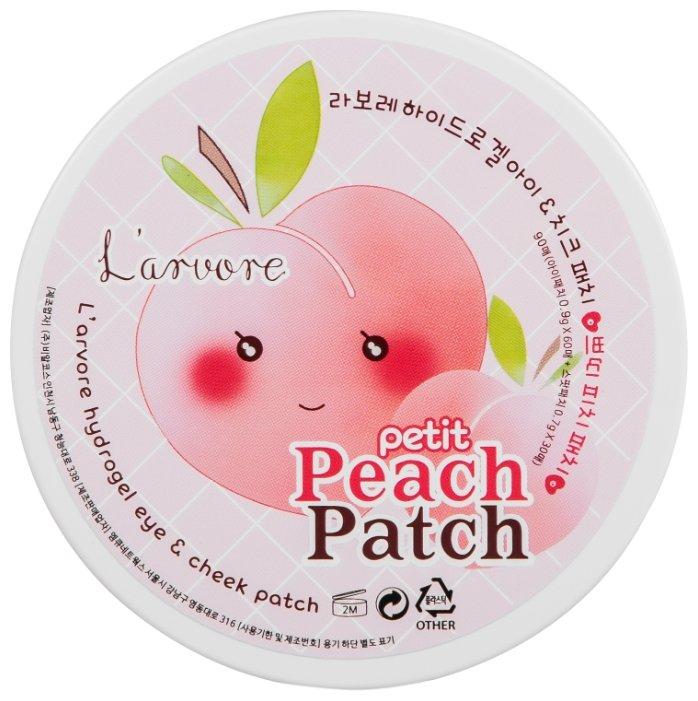 L arvore патчи для глаз гидрогелевые Hydrogel eye & cheek petit Peach Patch (90 шт.)