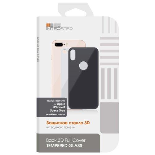 Защитное стекло INTERSTEP Back 3D Full Cover для Apple iPhone 8 space greyЗащитные пленки и стекла<br>