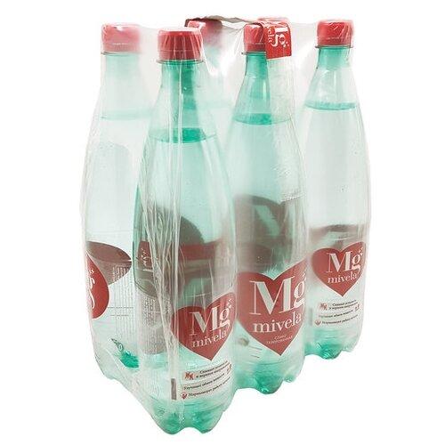 Вода минеральная Mivela Mg++ слабогазированная, ПЭТ, 6 шт. по 1 лВода<br>