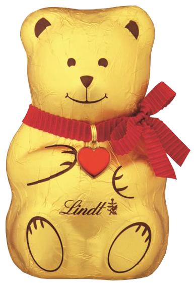 Фигурный шоколад Lindt Золотой Медвежонок Teddy молочный шоколад, 200 г