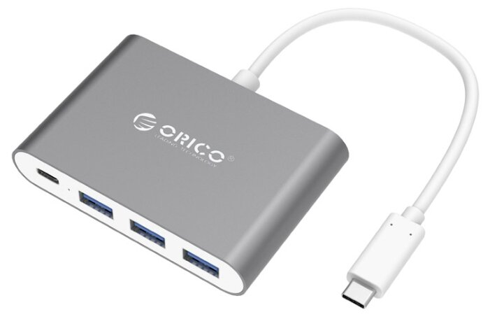 USB-концентратор ORICO RC3A, разъемов: 4