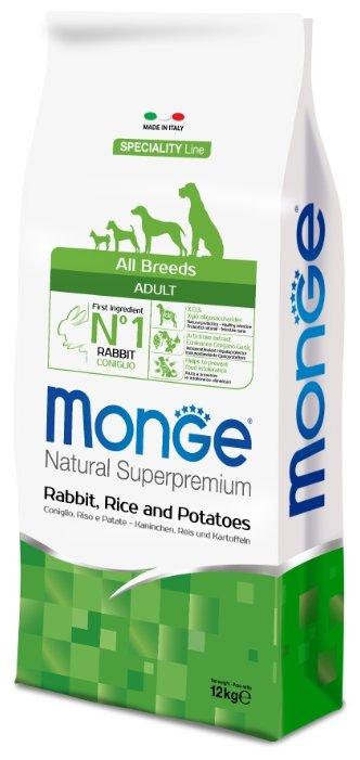 Корм для собак Monge Speciality Line – Кролик, рис и картофель. Монобелковый рацион для собак