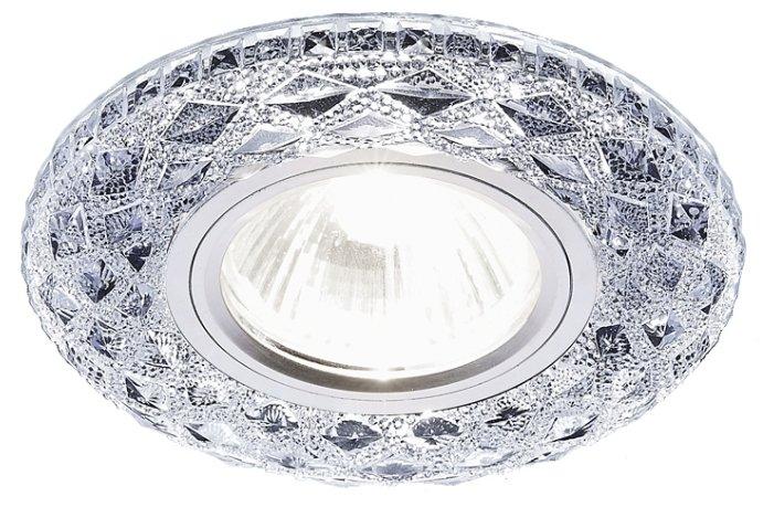 Точечный светодиодный светильник S288 CH хром/прозрачный MR16+3W Ambrella