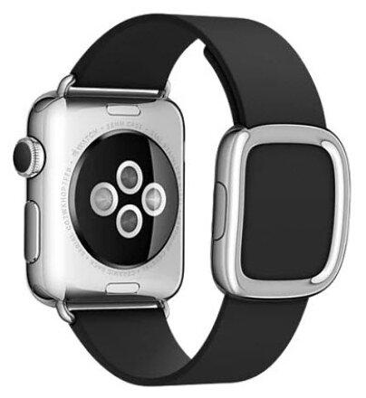 Karmaso Ремешок для Apple Watch 38 мм с застежкой черный