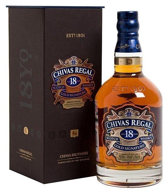Виски Chivas Regal Blend De Lux 18 лет, Италия, 0.7 л, подарочная упаковка