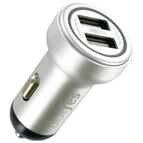 Автомобильная зарядка Dotfes B05 + microUSB серебро автомобильная зарядка mango
