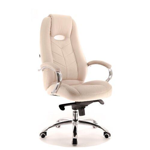 Фото - Компьютерное кресло Everprof Drift M для руководителя, обивка: искусственная кожа, цвет: бежевый компьютерное кресло everprof drift m для руководителя обивка натуральная кожа цвет коричневый