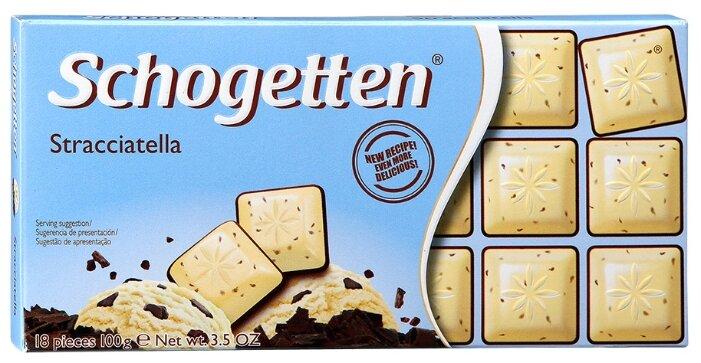 Шоколад Schogetten Stracciatella белый с какао-крупкой и горький