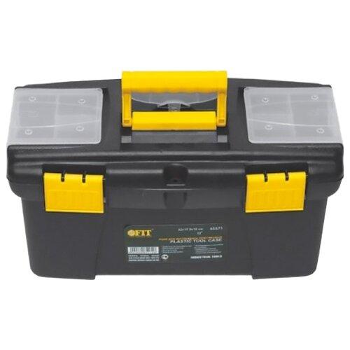 Ящик с органайзером FIT 65573 49x27.5x24 см 19'' черный/желтый ящик с органайзером stanley mega line cantilever 1 92 911 49 5x26 1x26 5 см черный желтый