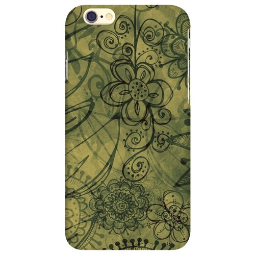 Чехол Mitya Veselkov IP6.MITYA-281 для Apple iPhone 6/iPhone 6S цветы на зеленомЧехлы<br>