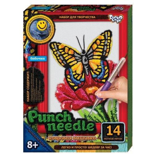 Купить Danko Toys Набор для творчества Ковровая вышивка Бабочка (PN-01-08), Наборы для вышивания