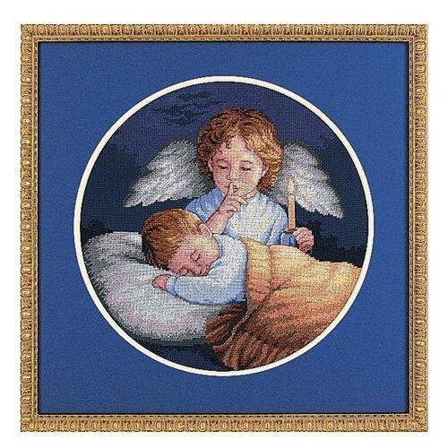 Купить Dimensions Набор для вышивания крестиком Ангел-Хранитель, диаметр 25 см (03873), Наборы для вышивания