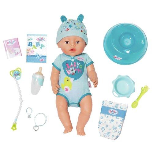 Фото - Интерактивная кукла Zapf Creation Baby Born Мальчик, 43 см, 824-375 zapf creation baby born одежда джинсовая коллекция 824 498 джинсовый сарафан белая маечка