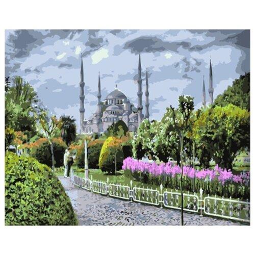 Купить Цветной Картина по номерам Голубая мечеть 40х50 см (GX7826), Картины по номерам и контурам