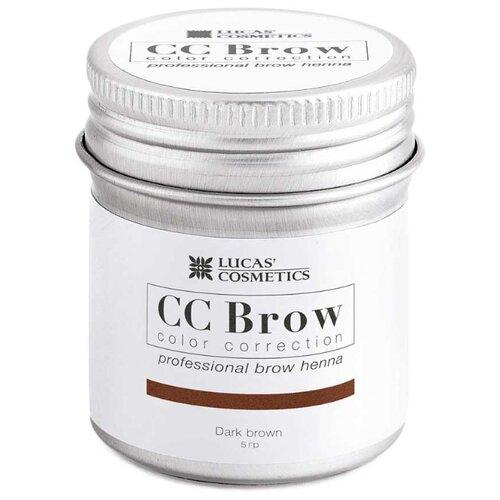 CC Brow Хна для бровей в баночке 5 г dark brown хна для бровей cc brow cc brow cc003lwxzk04