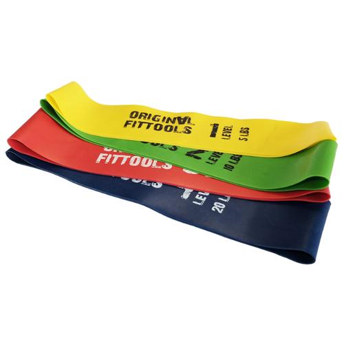 Эспандер лента 4 шт. Original FitTools FT-MBST 46 х 5 см зеленый/желтый/красный/синий