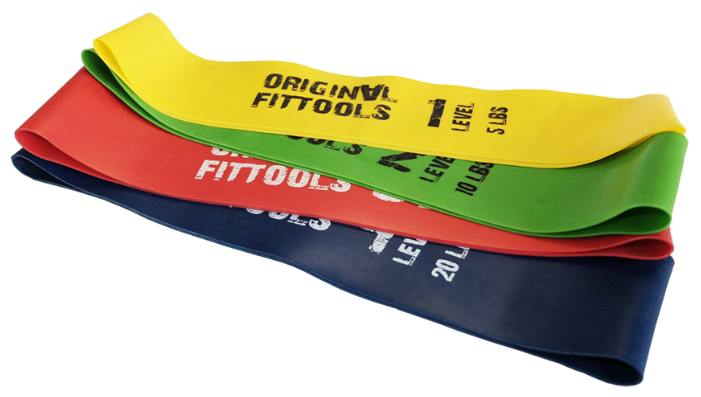 Эспандеры Original FitTools Набор из 4 мини-эспандеров (D=460мм) (Комплект)