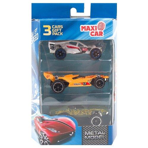 Купить Набор машин Maxi Car i-H878-3 1:64 7.5 см белый/оранжевый/зеленый, Машинки и техника