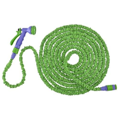 Комплект для полива PALISAD набор поливочный, усиленный растягивающийся шланг 20 метров зеленый шланг palisad поливочный