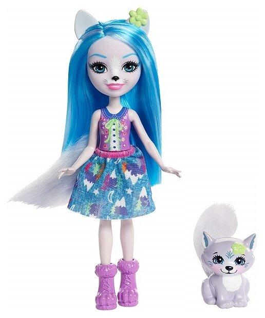 Кукла Enchantimals Уинсли Вульф с любимой зверюшкой, 15 см, FRH40