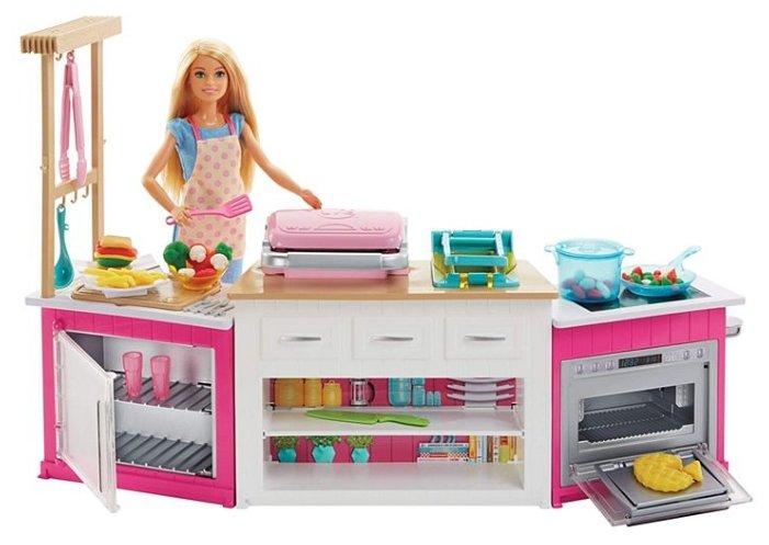 Набор с куклой Barbie Супер кухня, FRH73