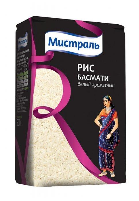 Рис Мистраль Басмати белый ароматный 500 г