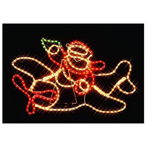 Фигура Sh Lights Санта-Клаус на самолете I-R-P8SP-C, мультиколор