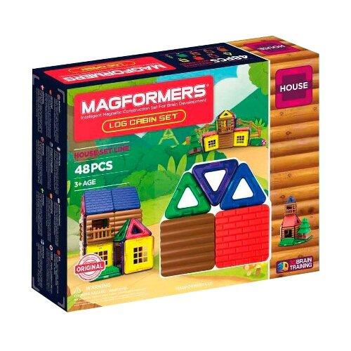 Купить Магнитный конструктор Magformers House 705006 Домик из бревен, Конструкторы