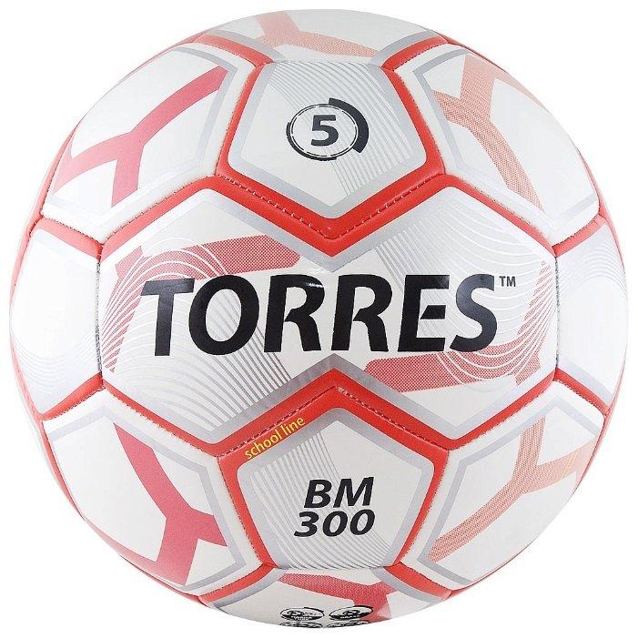 Футбольный мяч TORRES BM 300 белый/серебристый/красный 5
