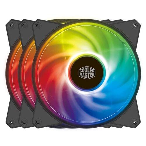 Вентилятор для корпуса Cooler Master MasterFan MF120R черный/ARGB 3 шт. вентилятор cooler master masterfan sf240r argb 2x120mm argb mfx b2d2 18npa r1