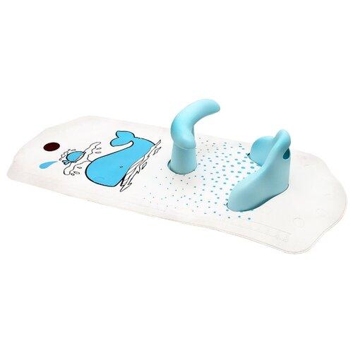 Коврик для ванны cо съемным стульчиком Roxy kids BM-4091CH белый / китенок