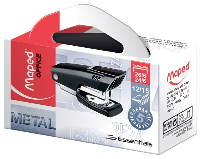 Maped степлер Essentials Metal Мини 26/6 (352411)