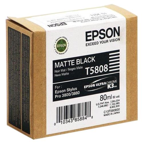 Фото - Картридж Epson C13T580800 epson t5808 matte black 80 мл c13t580800