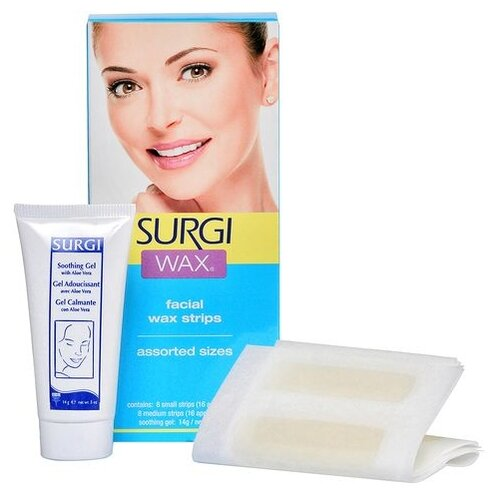 Surgi Набор для удаления волос на лице 16 шт.Восковая эпиляция<br>