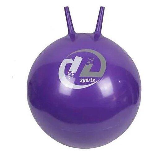 Купить Мяч-попрыгун Z-sports с рожками 65 см фиолетовый, Мячи и прыгуны