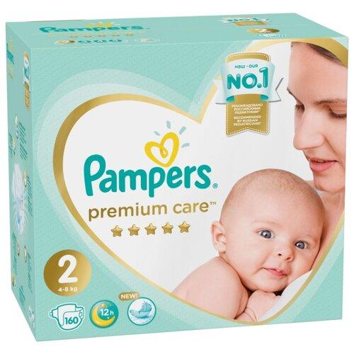 Купить Pampers подгузники Premium Care 2 (4-8 кг) 160 шт., Подгузники