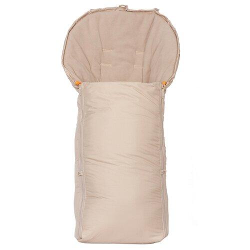 Купить Конверт-мешок Чудо-Чадо в коляску флисовый 3 сезона 92 см бежевый, Конверты и спальные мешки