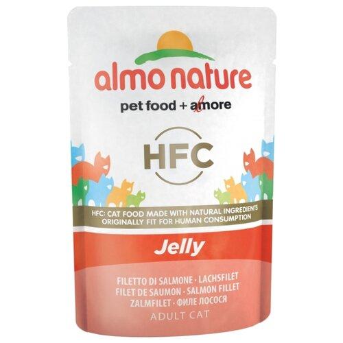 Влажный корм для кошек Almo Nature с лососем 55 г (кусочки в желе)