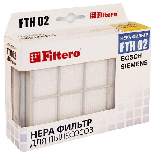 Filtero HEPA-фильтр FTH 02 1 шт. фильтр filtero fth 02 bsh hepa для bosch siemens