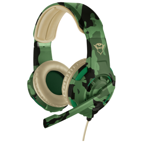 Компьютерная гарнитура Trust GXT 310 Gaming Headset jungle camo компьютерная акустика trust