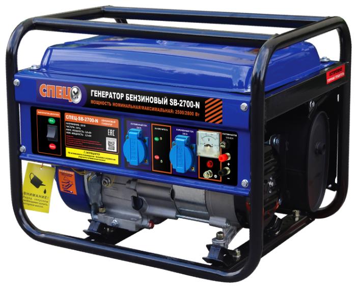 Генератор бензиновый СПЕЦ-SB-2700(N)
