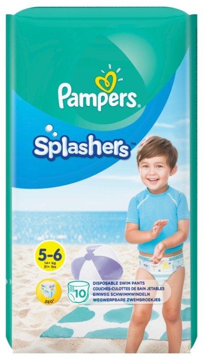Pampers трусики Splashers (14+ кг) 10 шт.