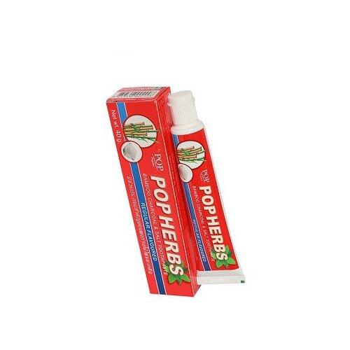 Зубная паста POP Popular Растительная с бамбуковым углем и соль, 40 гЗубная паста<br>