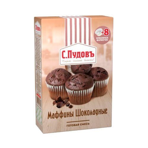 С.Пудовъ Мучная смесь Маффины шоколадные, 0.23 кгСмеси для выпечки<br>