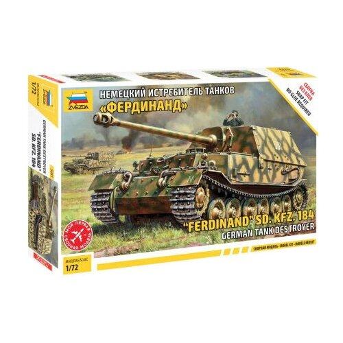 Купить Сборная модель ZVEZDA Немецкий истребитель танков Фердинанд (5041) 1:72, Сборные модели
