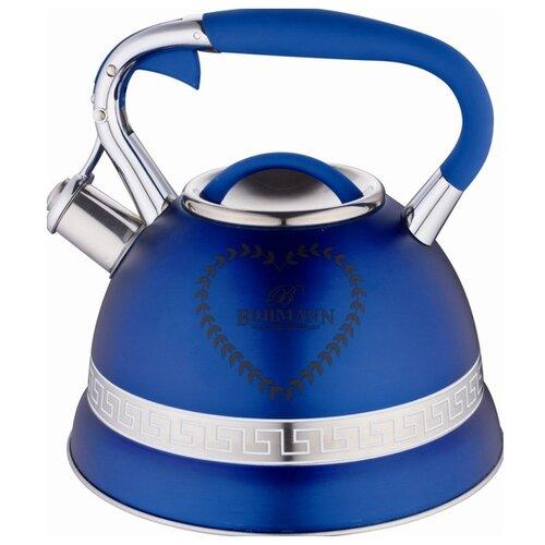 Bohmann Чайник BH-9911 3 л, синий bohmann чайник bh 9911 3 л оранжевый