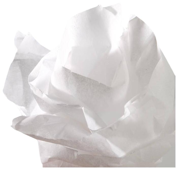 Бумага крепированная, Бумага шёлковая Canson, рулон 0,5х5 м, 20 г/м2, красный, Canson