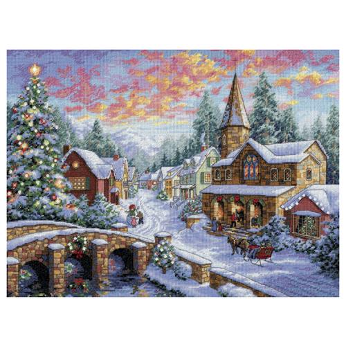 Dimensions Набор для вышивания Holiday Village (Праздничная деревушка) 41 х 30 см (08783)Наборы для вышивания<br>