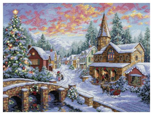 Dimensions Набор для вышивания Holiday Village (Праздничная деревушка) 41 х 30 см (08783)