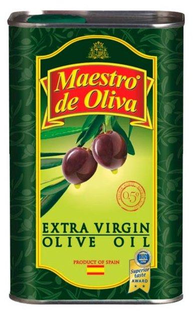 Maestro De Oliva Масло оливковое extra virgin, жестяная банка 0.5 л